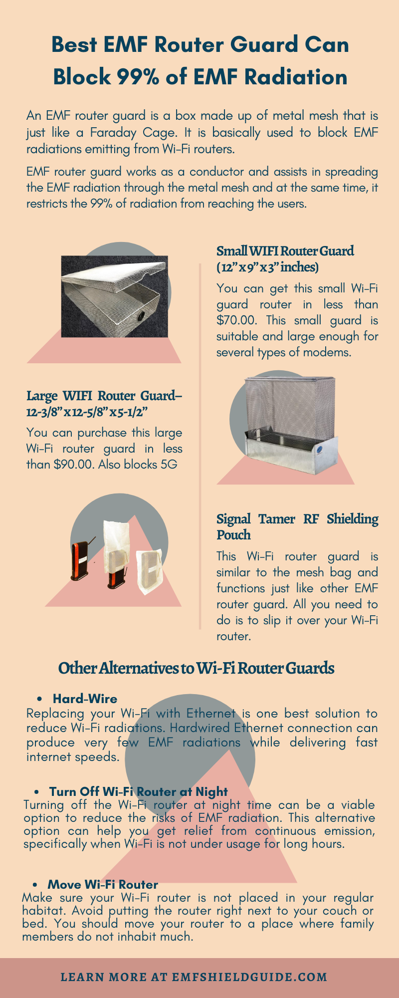 EMF router guard