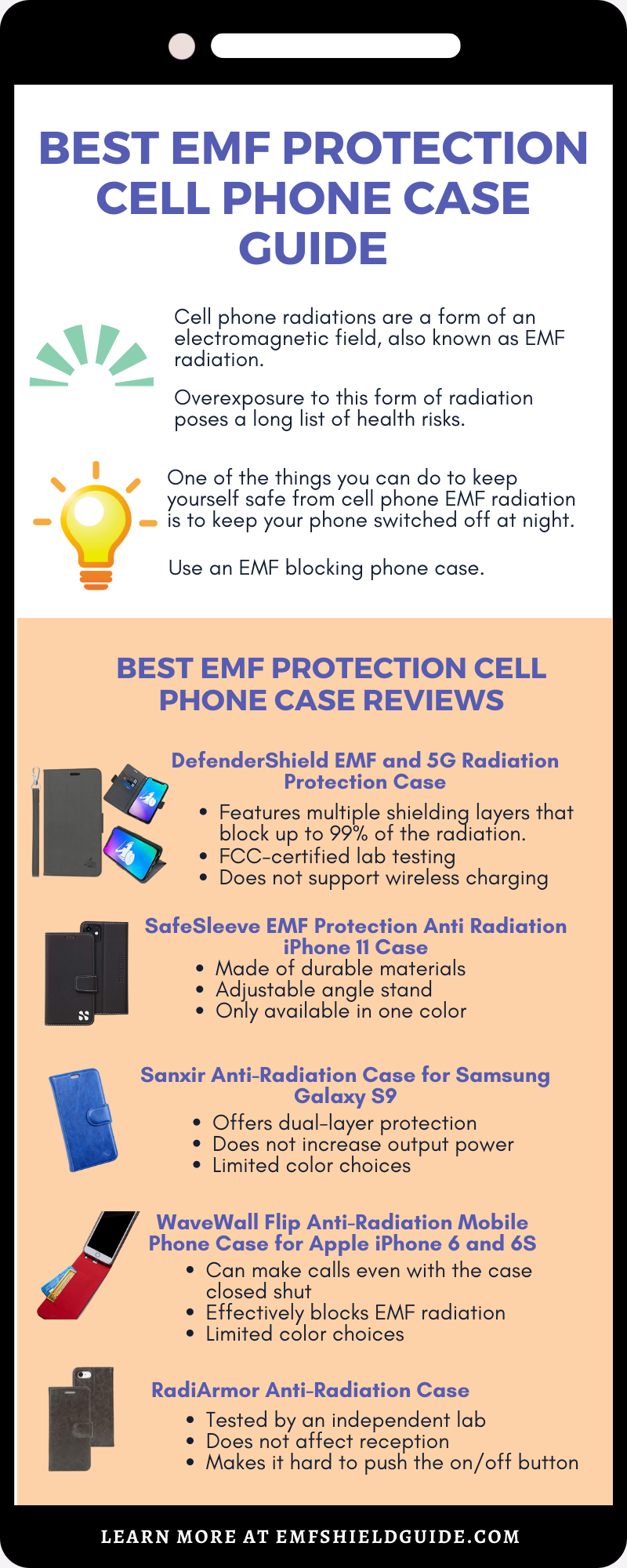 emf cell phone case